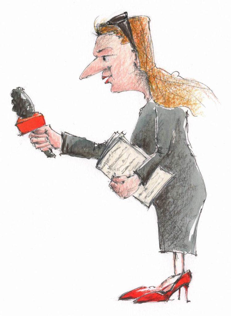 Margit Schuschou bei der Arbeit